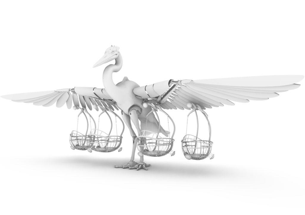 Modélisation 3D d'un Héron