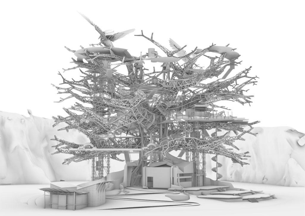Arbre aux Hérons - Modélisation 3D (document de travail)