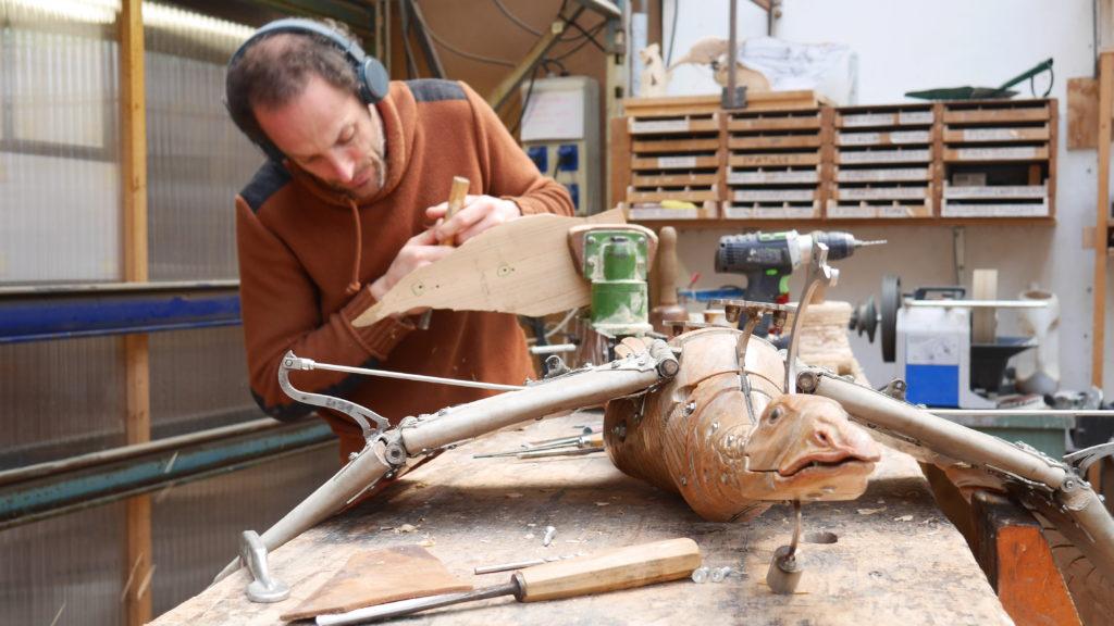 Le Vol des oies sauvages - sculpture - - crédit p.david - cie La Machine
